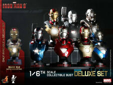 Hot Toys - Iron Man 3 - 1/6 Scale Collectible Bust Deluxe Set In Stock