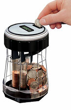 EZ-Count Digital COIN COUNTER Money Jar Machine Motorized Magnif 3553 Counts NEW