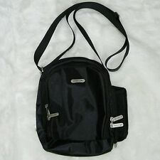 Black TRAVELON Sling Crossbody Bag Security Card Holder Organizer Purse NEW
