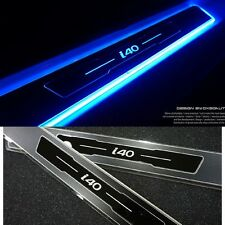NEW Blue LED light Door Sill Scuff Plate Aluminum for Hyundai i40 2011+