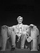 VINTAGE PHOTOGRAPHY PRESIDENT IBRAHIM LINCOLN STATUE ART POSTER PRINT LV4796