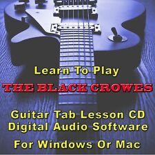 BLACK CROWES (THE) Guitar Tab Lesson CD Software - 22 Songs