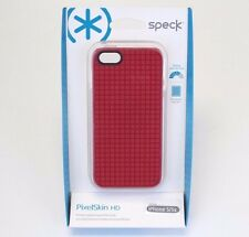 SPECK IPHONE SE/5/5S Case PIXELSKIN HD COVER SHELL Red Bumper Design Rubber