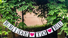 Bride to be hen's night Banner Party Bunting Cardboard Decor Decoration Prop
