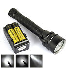 8000 Lm 5XL2 LED Underwater 80M Diving Flashlight Waterproof Torch 2*18650+CH