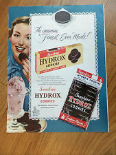 1950 Hydrox Sunshine Cookies Ad Lot of 3 Ads