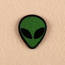 Embroidery Green Alien Sew Iron on Patch Badge Biker Bag T-Shirt Fabric Applique