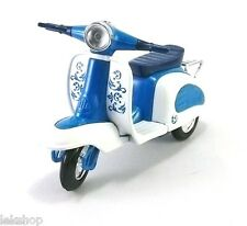 Blue VESPA SCOOTER Toy Model Car Vintage Collectible - Free Ship