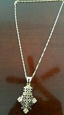 Ethiopian Orthodox Christian Cross necklace, Coptic Cross gold plated unisex