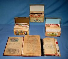 VTG Handwritten/Typed/Clipped Recipes LOT 3 Tin BOXES & 2 Books ESTATE!