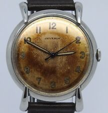 VINTAGE Juvenia 35mm Steel Mens Manual Watch Teardrop Lugs Nice Patina Dial 1080