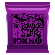 12 Sets ERNIE BALL POWER SLINKY ELECTRIC GUITAR STRINGS