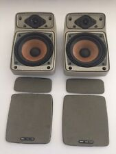 BMW E30 E28 E23 Premium Sound System Speaker Set Pair Rare Tan 318i 325i M3 M5
