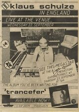 18/9/82pgn60 Advert: Klaus Schulze Album trancefer Available Now 15x11