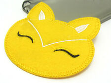 New Cute Cat Embroidered Applique Iron On Sew On Patch Cloth Yellow