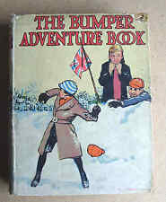 THE BUMPER ADVENTURE BOOK 1910s? Collins HB 8 colour plates 12 stories LOVELY!