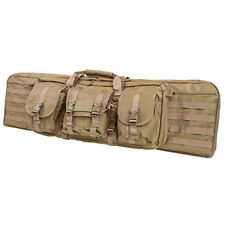 "NcSTAR 42"" Tan Double Airsoft Hunting Padded MOLLE Rifle Gun Storage Case Bag"