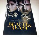 "BEAUTY & THE BEAST CASTX2 PP SIGNED 12""X8""INCH POSTER JAY RYAN AND KRISTIN KREUK"