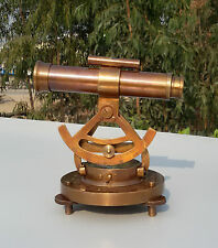 Vintage Nautical Brass Transit & Alidade Telescope Compass Survey Instrument