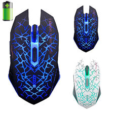 2.4GHz Wireless 7D 2400DPI 6 Buttons Optical Usb Gaming Mouse for Laptop PC Mac