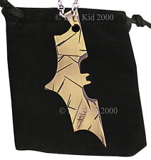 BATMAN DC Comics Marvel Superhero Dark Knight Bat Chain Pendant Necklace Gold