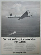 8/1975 PUB LOCKHEED P-3 UPDATE ORION US NAVY MPA MARITIME PATROL AIRCRAFT AD