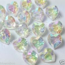 5 x irridescent valentines love heart buttons size 18 ( 12mm)