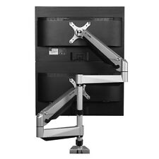 """Dual LCD Adjustable Monitor Stand Dual Stacking Arm Holds up to 27"""" LCD Monitors"""