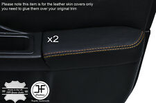 YELLOW STCH 2X FRONT DOOR ARMREST LEATHER COVER FOR SUBARU IMPREZA WRX STI 01-04