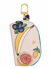 NWT $115 Tory Burch DOMED FRUIT POUCH Purse Coin CASE KEY FOB Leather Bag Charm!