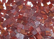 """100 1/2"""" Brick Red Orange Tumbled Stained Glass Mosaic Tiles"""