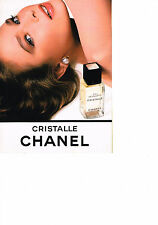 PUBLICITE advertising 1986   CHANEL   eau de toilette  CRISTALLE