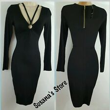 NWT BEBE ALANNA  MIDI RING STRAP DRESS SIZE XS BEAUTIFUL DRESS!