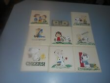 Lot of 8 Hand Painted Snoopy Peanuts Charlie Brown Wood Wall Hangings Pictures