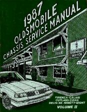 1987 Calais Cutlass 88 Firenza 98 Shop Service Repair Manual Book OEM Guide