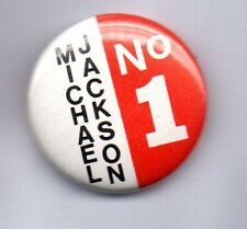 MICHAEL JACKSON NO. 1 BUTTON BADGE 80s POP - KING OF POP- BAD THRILLER 25mm Pin