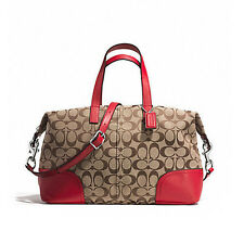 Coach Bag F31841 Hadley Signature Zip Satchel  Bright Red Agsbeagle COD