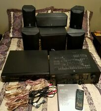 Yamaha HTR-5835 Home Theater AV Receiver Speakers Surround Sound SW-P3600 BL Set