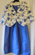 Beautiful outfit for mother of the bride 100% silk dress and jacket size 16