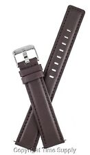 20 mm BROWN LEATHER WATCH BAND PADDED EXTRA LONG XXL