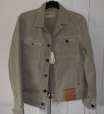 Replay Blue Jeans 100% Cotton Beige Jacket Size L BNWT