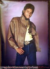 Michael Jackson 22x34 Brown Leather Jacket Thriller Era Poster 1983