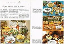 Publicité Advertising 1974 (2 pages) Les Services de table en faience de Gien