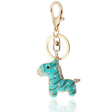 Handbag Buckle Charms Accessories Green & Blue Horse Keyrings Key Chains HK23