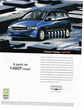PUBLICITE ADVERTISING 114  2000   CHRYSLER   VOYAGER  COMPAQ