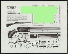 1993 MOSSBERG Model 402 Lever Action Rifle Parts List AD