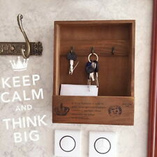 Wooden Mail Key Rack Holder Wall Mounted Hook Hanger Entryway Organizer  UI