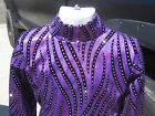 Girls Youth slinky PURPLE Holo blac western rail shirt leadline, trail  S M L xl