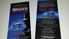 AGATHA CHRISTIE'S THE MOUSETRAP LEAFLET FLYER PUT WITH TICKETS FOR A GREAT GIFT
