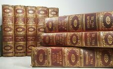 1854~LIVES OF THE QUEENS OF ENGLAND~Complete 8 Vol Book Set~Very Old LEATHER Lot